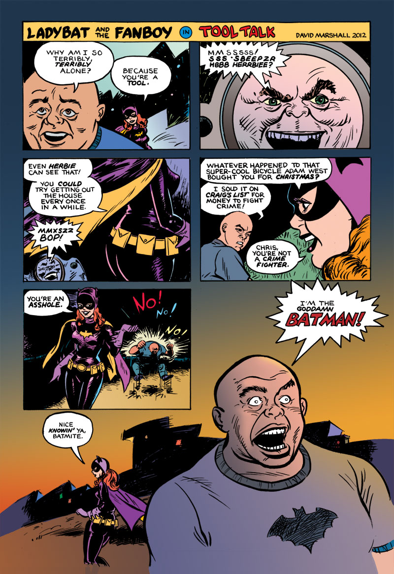 "page 1 of Ladybat and the Fanboy in ""Tool Talk&rdquo"