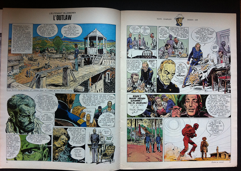 photo of a color Lt. Blueberry page Jean Giraud