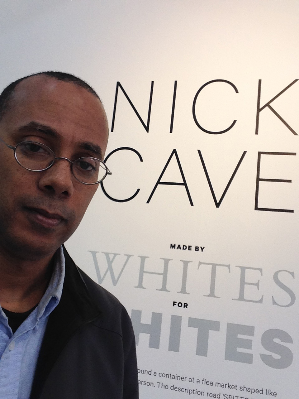 photo of the Nick Cave: Made by Whites for Whites exhibit
