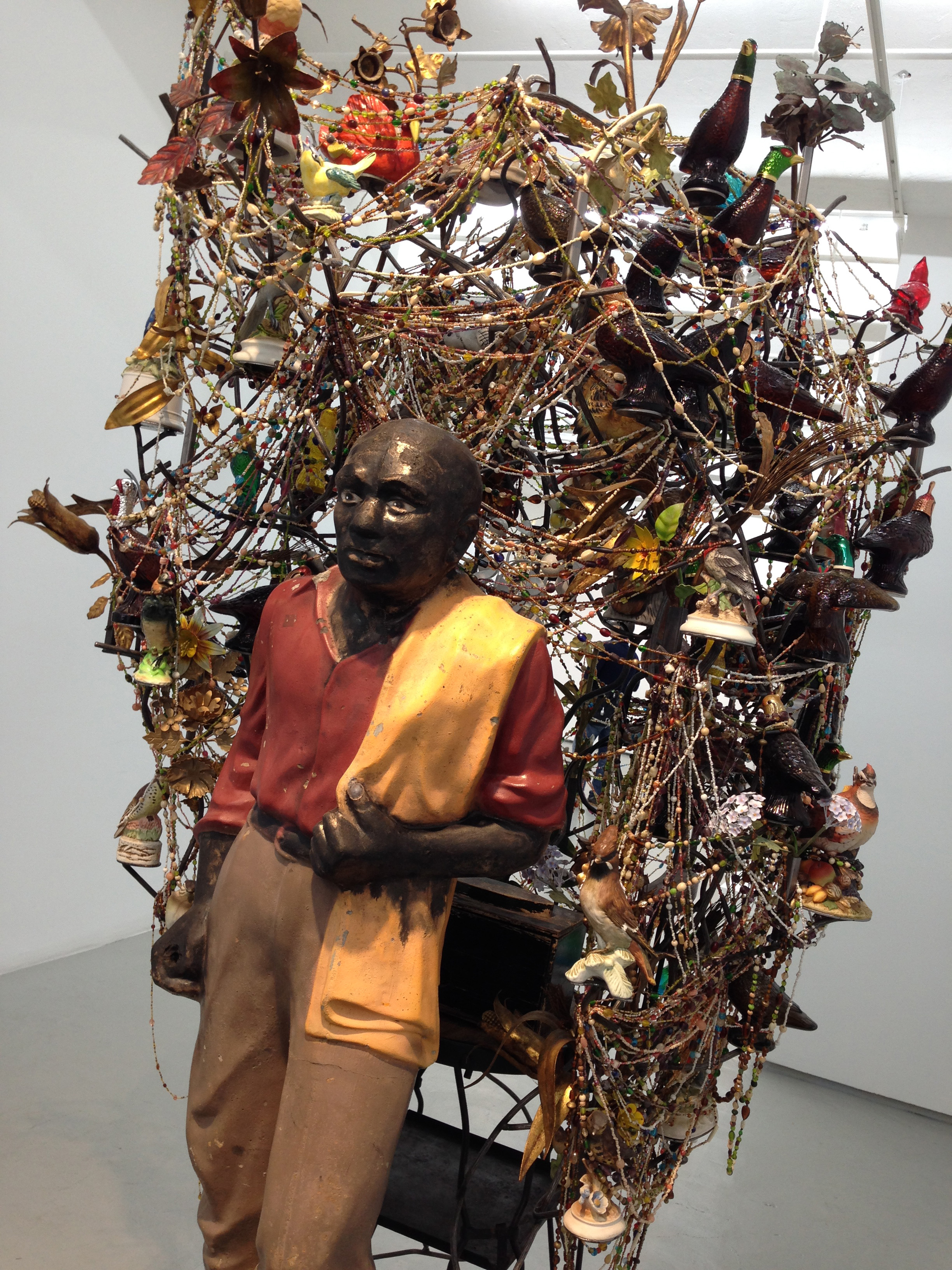 photo of me at the Nick Cave: Made by Whites for Whites exhibit