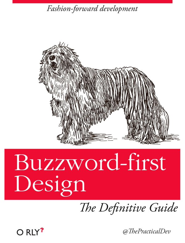 O'RLY parody cover by Ben E. C. Boyter: Buzzword-First Design