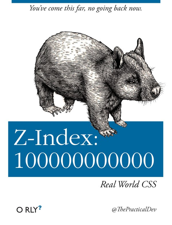O'RLY parody cover by Ben E. C. Boyter: z-index 100000000000